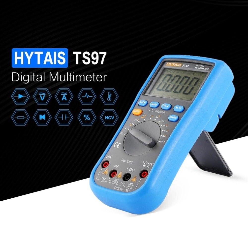 HYTAIS TS97 multímetro Digital True RMS rango automático AC/DC tensión corriente resistencia capacitancia temperatura diodo probador Metro