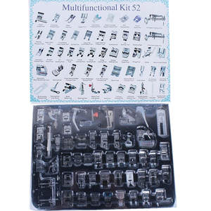 52 PCS Domestic Sewing Foot Presser Feet Set for Singer, Brother, Janome Toyota,Simplicity And Low Shank Sewing Machines 5BB5087