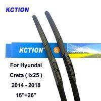 Cam hibrid ön silecek lastiği cam sileceği araba aksesuarları Hyundai Creta için (ix25) yıl 2014-2018 Fit kanca