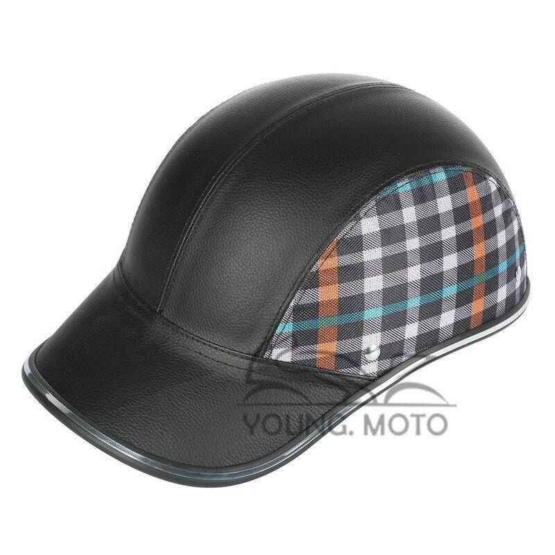 Motorcycle Vespa Helmet Summer Baseball Cap Style Open Half Face Women Men Adult Adjustable Strap Harley Casual Driver Protector