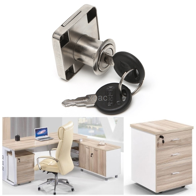 22mm Drawer Cam Lock With 2 Keys For Cabinet Office Desk Drawer Wardrobe  Cupboard M13 Dropship