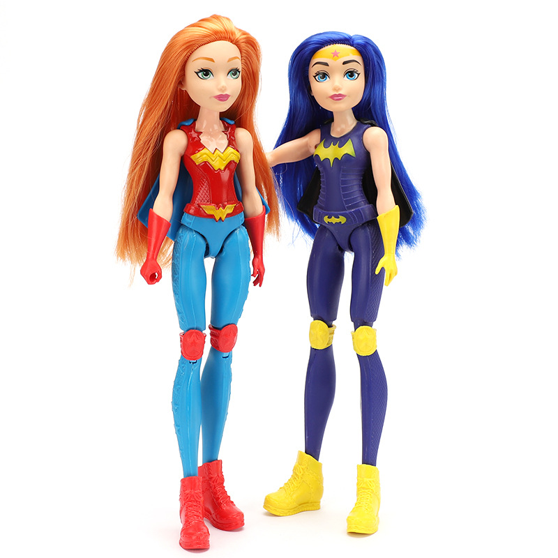 30cm 1/6 Super Hero Girls Gold/ Blue Hair Super Hero Wonder Woman Superwoman Doll Girl Toys For Kids Figma Moveable Jointed Doll