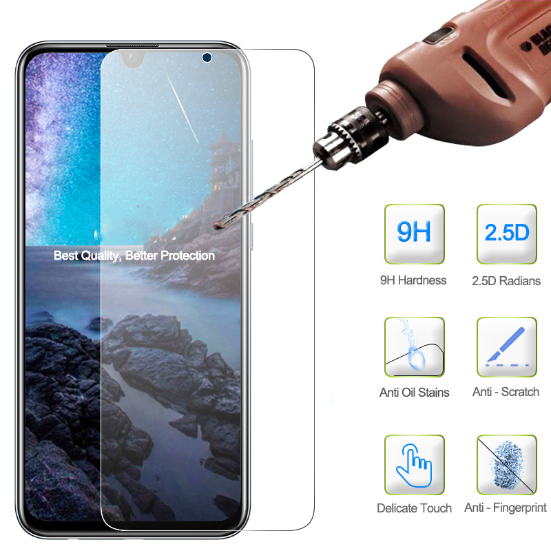 NEW Ultra-thin New For Huawei Honor 10 Lite Tempered Glass Screen Protector Premium Front Clear Protective Film Cover Case