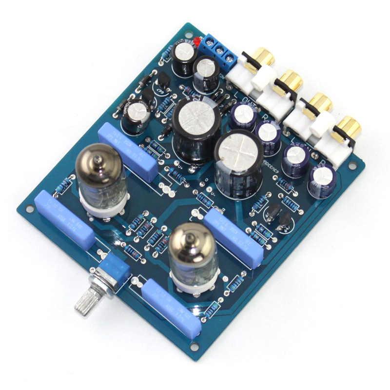 6J1 Tube Pre-Amplifier Preamp Board HiFi Amp Audio Board Completed Board X10-D Circuit AC12V-0-AC12V