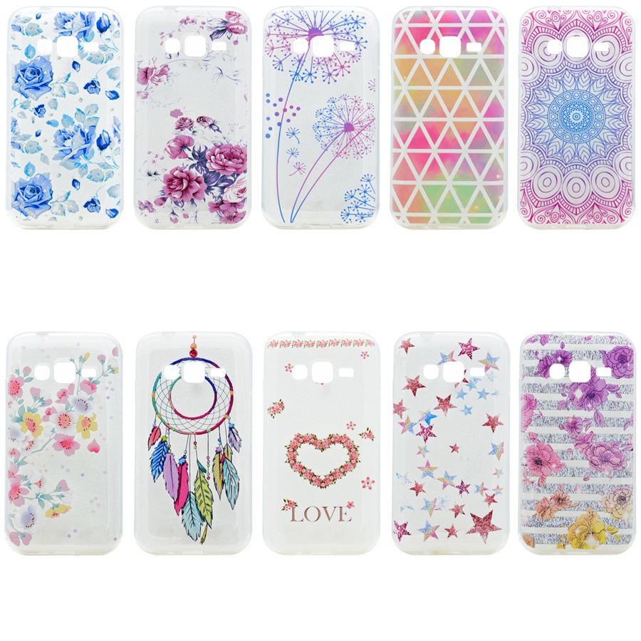 For Coque Samsung Galaxy J1 Mini Prime Soft TPU Silicone Back Cover For Fundas Samsung J1Mini Prime Floral Phone Case