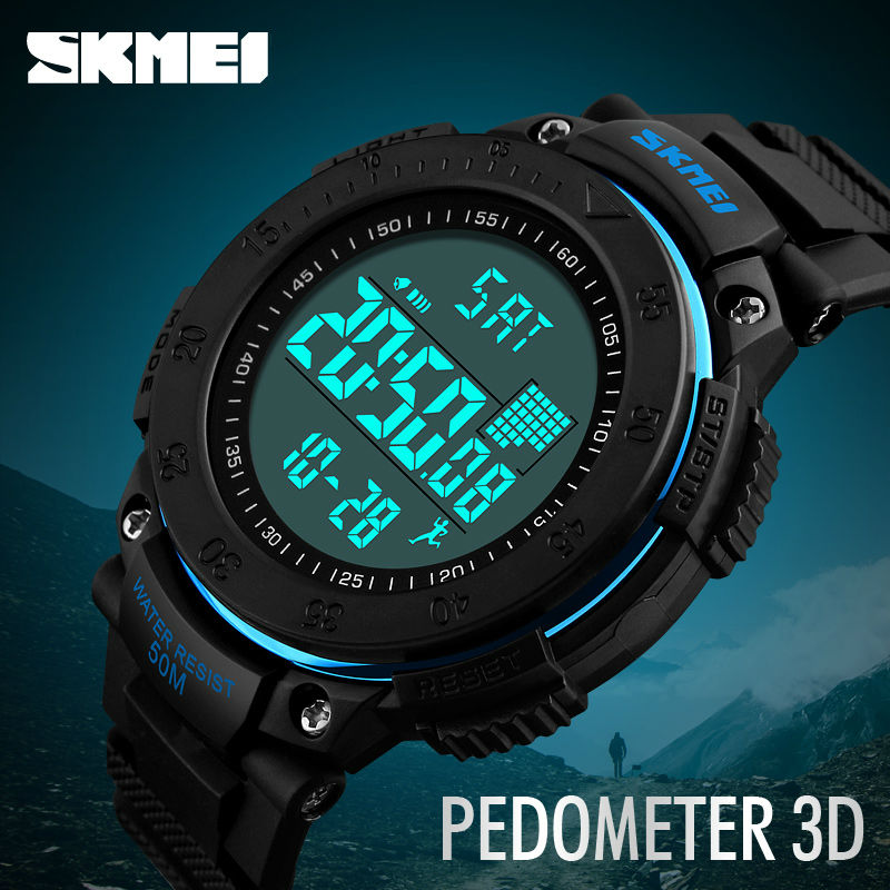 SKMEI 1238 Brand Digital Watch Men Pedometer 3D Multifunctional Sports Watches Relojes Waterproof Relogio Masculino Wristwatches