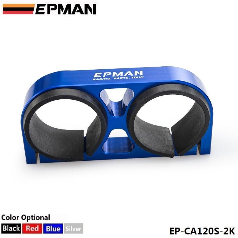 Prix pour Autofab-double double pompe à carburant support epman billet aluminium 60mm pour 044 pompe à carburant pour honda civic eg jdm 92-95 af-ca120s-2k