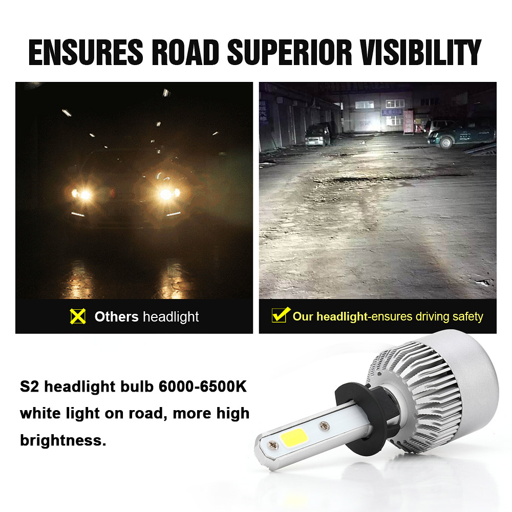 2pcs H1 Led Car Headlight Kit Bulbs Lamps Light 6000k 3000lm 30w Lamp Circuit Board50503smd China White In Bulbsled From Automobiles Motorcycles On
