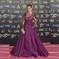 Modest vestidos de baile roxo borboleta bola vestido de apliques de cristal vestido de festa 25º