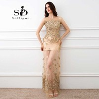 Prom Dress 2017 SoDigne Hot Sale With Delicate Appliques A Line Scoop Elegant Custom Made Vestidos Para Festa Evening Party