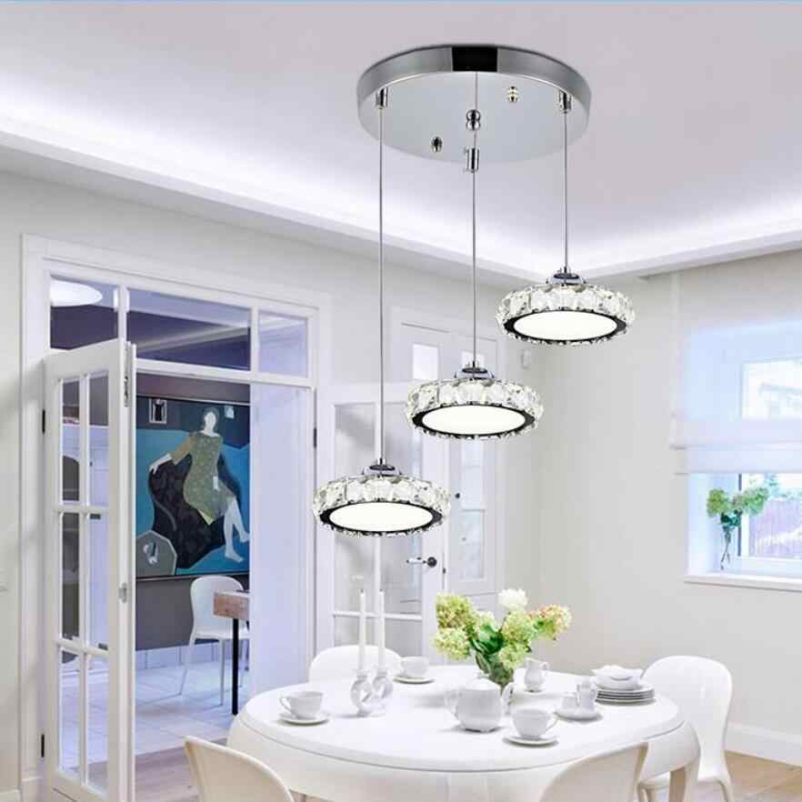 Modern K9 Crystal led Chandeliers led lamps Stainless steel living room lamps Pendant High-power 12/36W led lustre Chandelier 30