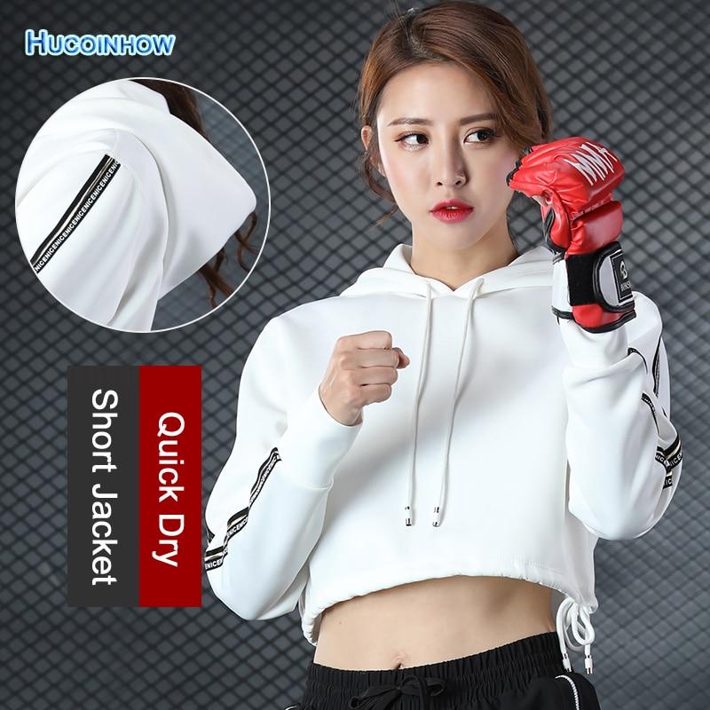 HUCOINHOW Brandly font b Women b font Yoga Top Zipper Jacket Fitness Short Style Shirt font