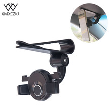 XMXCZK Universal 360 Rotating Sun Visor Mount Holder Stand Smartphone Car Phone Holder For iPhone Samsung HTC Mobile GPS Holder