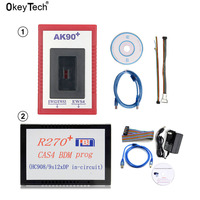 OkeyTech V3.19 AK90+ For BMW EWS2 EWS3 EWS4 Key Programmer V1.20 R270+ for BMW CAS4 BDM Prog Auto Car Key Programing Tool OBD2