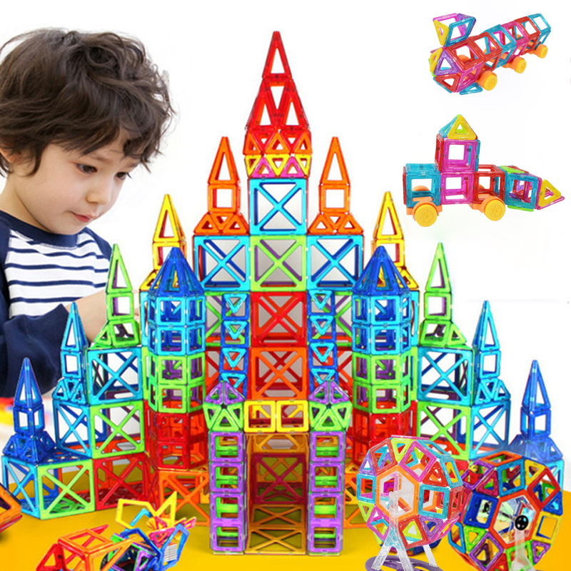 Mini Magnetic Designer Construction Set Model & Building Toy Magnetic Blocks Educational Baby Toys For Kids Christmas Gifts