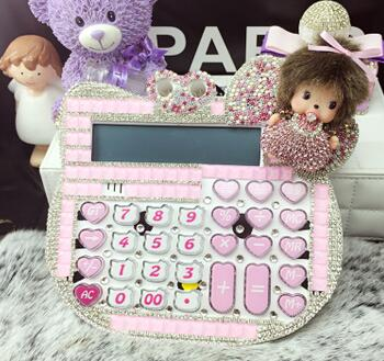 ФОТО 2016 New 12 digit pink cute hello kitty calculator wholesale 17*18CM calculator no voice cute calculator