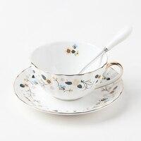 200 мл Творческий Кофе чашки комплект Европейский стиль керамические Кофе комплекты костяного фарфора чашка и блюдце