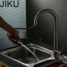 JIKU Bathroom Pull-out Sink Faucet Deck Installation Wash Basin Faucet Dish Faucet Hot And Cold Water Mixer