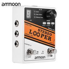良質ギター部品 ammoon ステレオルーパーループ記録ギターエフェクトペダル 10 独立したループ最大。 10 分記録時間