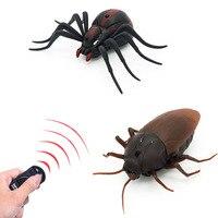 Hồng ngoại Điều Khiển Từ Xa Cockroach Spider RC Toy Mock Realistic Fake Sáng Tạo Động Vật Điện Prank Đồ Chơi Tricky Vui Trẻ Em Quà Tặng