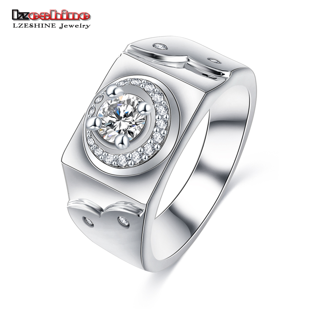 LZESHINE Promotion!!! New Design Rock Ring with AAA CZ Crystal ...