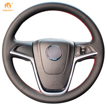 MEWANT Black Artificial Leather Car Steering Wheel Cover for Buick Excelle XT GT Encore Opel Mokka(China)