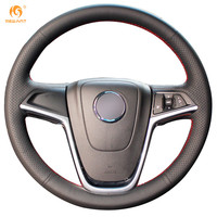 Black Leather Car Steering Wheel Cover For Buick Excelle XT GT Encore