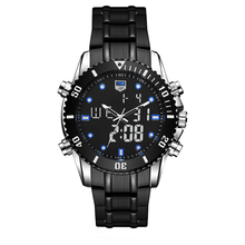 TVG 2019 Hight Quality New Luxury Stainless Steel Quartz Watch Sport Men LED Waterproof Wrist Watches Gifts for