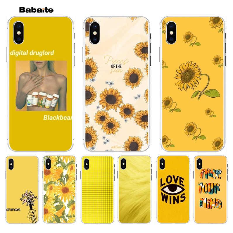 Babaite Hippie Aesthetics Yellow Pattern Newest Super Cute Phone