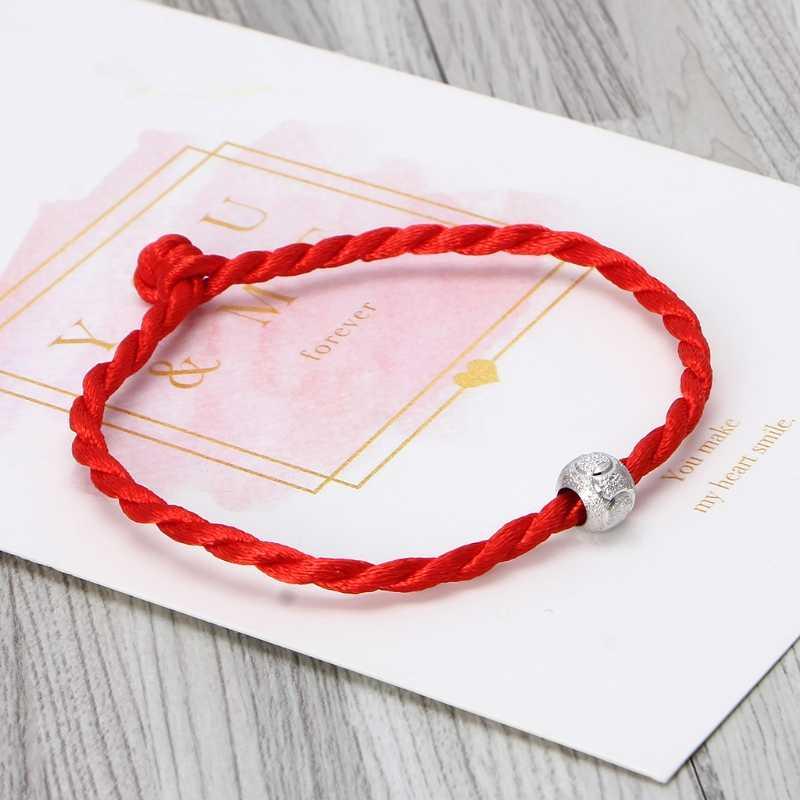 カバラレッドロープ文字列ブレスレットラッキービーズチベット仏教ジュエリー