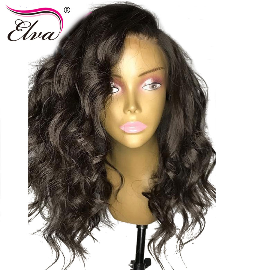 Elva Hair Full Lace Human Hair Wigs Short Full Lace Wig Pre Plucked Hairline With Baby Hair Brazilian Remy Hair Lace Wigs 8-18