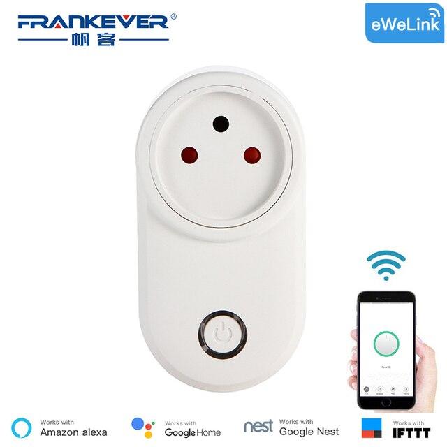 FrankEver izraela inteligentna wtyczka WIFI inteligentne gniazdo rozrządu bezprzewodowy Outlet inteligentna kontrola głosu współpracuje z Alexa Google domu