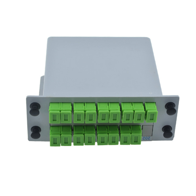 SCAPC Caja FTTH Fibra Óptica PLC splitter 1X16 PLC Splitter caja con 1X16 tipo de guía de onda Planar divisor óptico Envío gratis