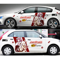 Car Decoration Stickers Waterproof Japanese Anime Angel Beats Drift Racing Decal Stickers Suit For Ford Honda VW Mazda Skoda
