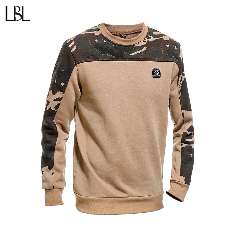 LBL Camouflage Sweatshirt Men Hip Hop Autumn Spring Mens Hoodies and Sweartshirts Fashion Long Sleeve Hooded Pullover Plus Size
