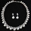 DOKOL Lujo AAA + CZ de La Perla Conjuntos de Joyas para Novias Nueva Moda Oro Blanco Plateado Collar de La Boda Establece bijoux femme DKS0027