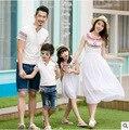 Conjunto de la familia playa ropa bohemia vestido para la madre e hija ropa para el padre hijo Tees ropa la familia vestido y ropa