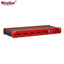 MiraBox HDMI Quad Screen Seamless Switcher Support 4 Channels Screen Sementation Up to 1080P @60Hz for Games/Live Stream/Monitor