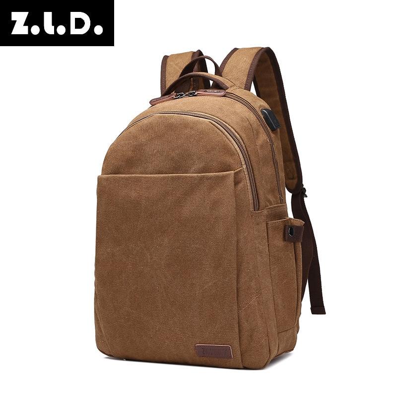 ZLD 2018 New trendy Laptop Backpack External Computer Backpacks Waterproof Bags for Men  ...