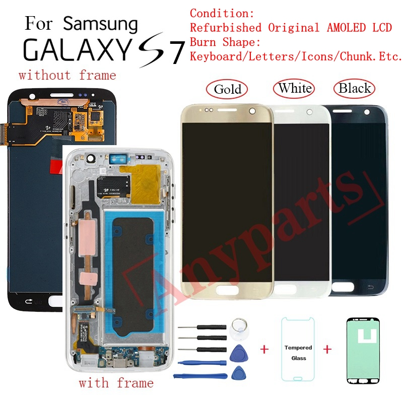 For Samsung S7 G930F G930FD Display LCD Screen Replacement For Samsung G930V G930T G930W8 Lcd Display Screen Burn-in Shadow