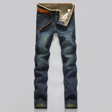 2015 Fashion Men's jeans Seasons mix and match Preppy Style Straight Frazzle Classic jeans Inexpensive