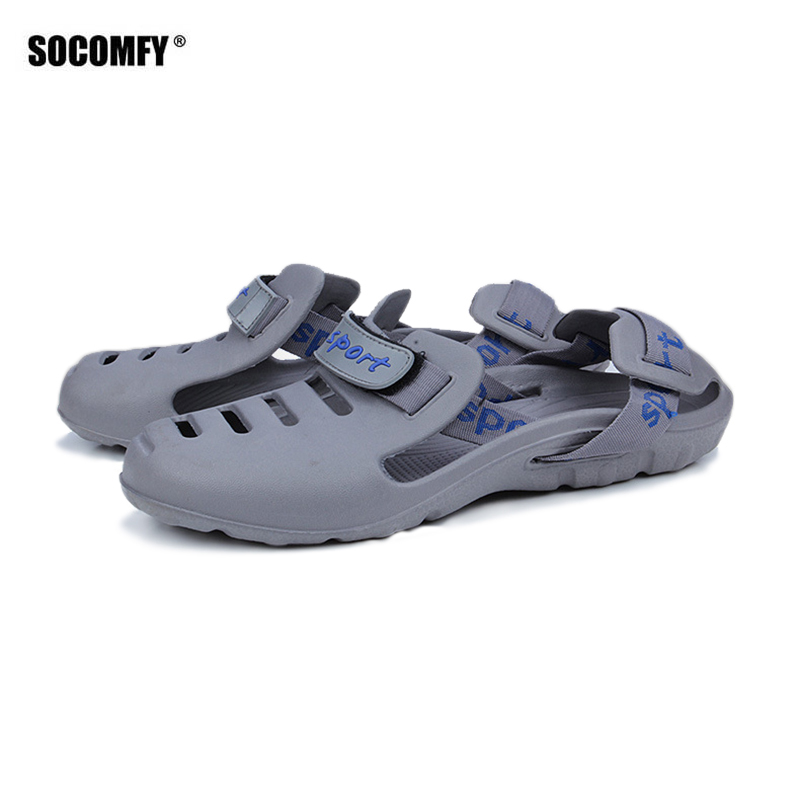 SOCOMFY Summer Men Breathable Casual Sandals Comfortable Outdoor Water Shoes Fashion Shoes Classic Style Male Sandals