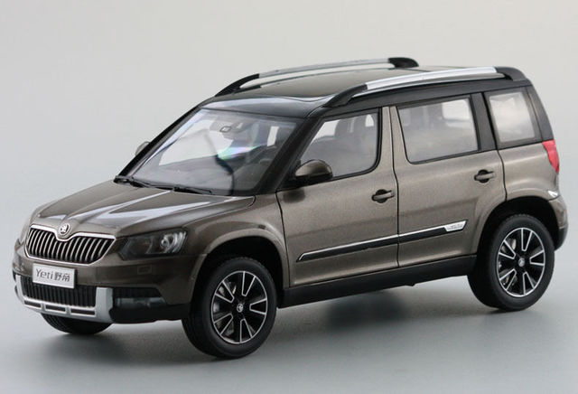 1 18 diecast model voor skoda yeti 2015 bruin suv legering. Black Bedroom Furniture Sets. Home Design Ideas