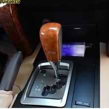 Luhuezu деревянный Цвет автоматический Трансмиссия Рычаги передач для автомобиля для Toyota Land Cruiser LC200 2008-2017 Аксессуары