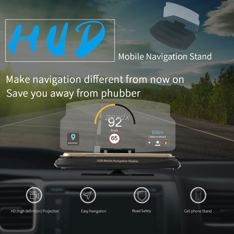 Universal Mobile Phone Car Holder Windscreen Projector HUD Head Up Display 6.5 Inch For iPhone/Samsung GPS Z17 Drop ship