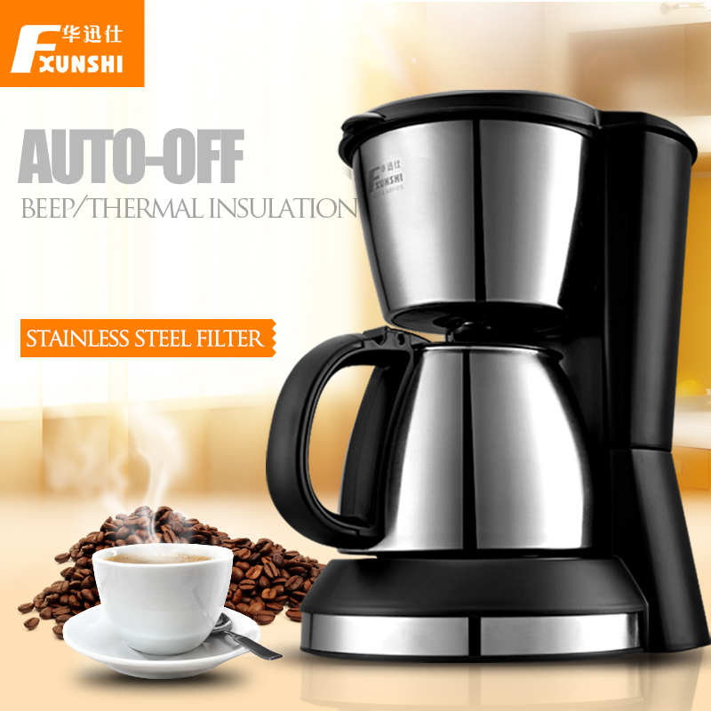 Insulated Pour Over Coffee Maker : Thermal insulation automatic coffee printer drip coffee machine 0.7L 700W coffee brewer cafe ...