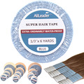 Blue And White Ultra Hold Super Strong Double Sided Tape For Hair Extensions 1 Roll Waterproof Adhesive Wig Tape For Lace Wigs