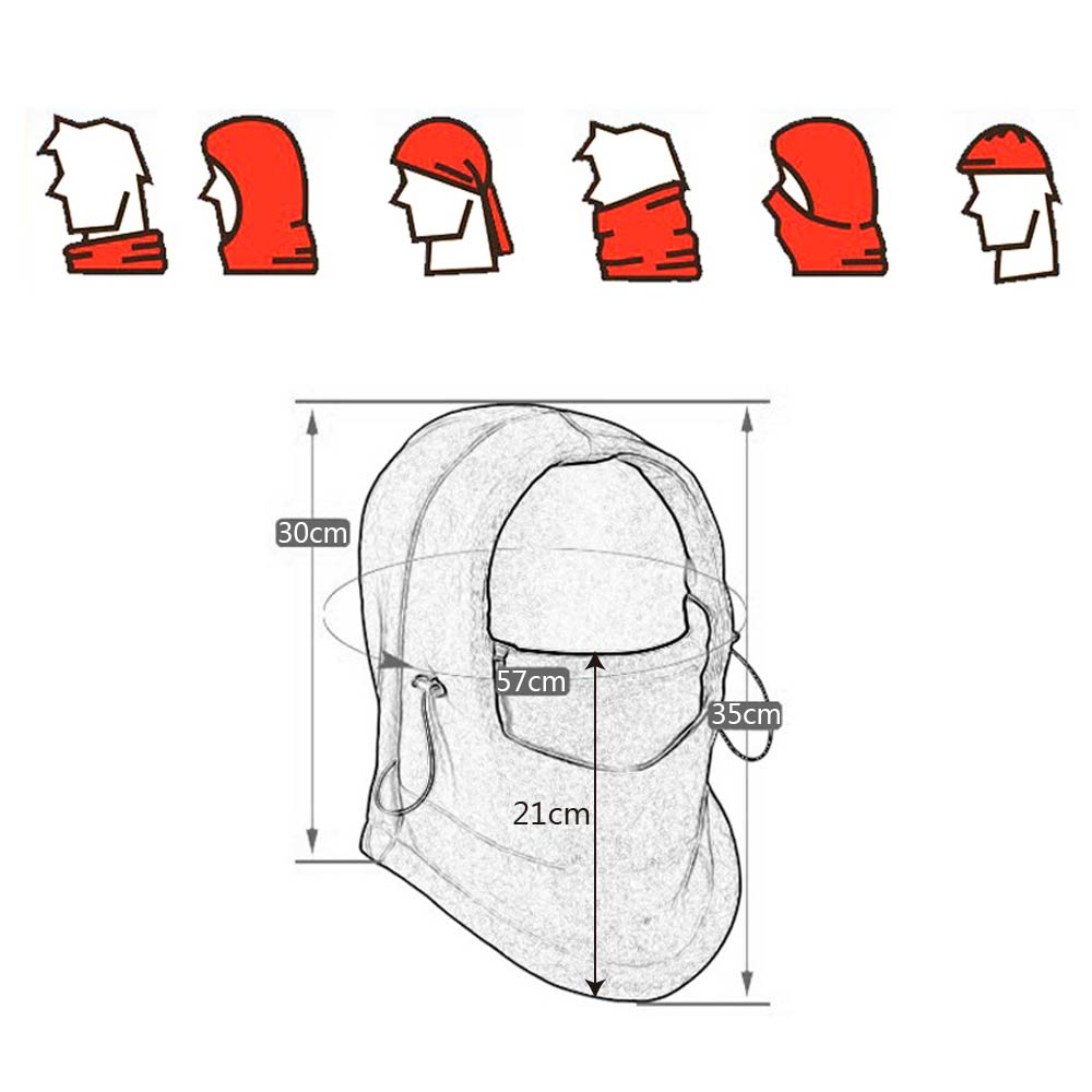 Image 5 - YOSOLO Warm Full Face Mask Headgear Winter Hat Motorcycle Bicycle Beanies Balaclava Hood Fleece Mask and Neck Coverage Design-in Motorcycle Face Mask from Automobiles & Motorcycles