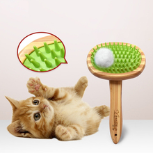Pet Comb Big Dog Brush Comb for Cats Dogs Hair Wooden Hair Removal Soft Brush Pet Anti-Static Comb Grooming Products Care Tool hot sale pet grooming tools anti static massage steel needle comb for puppy