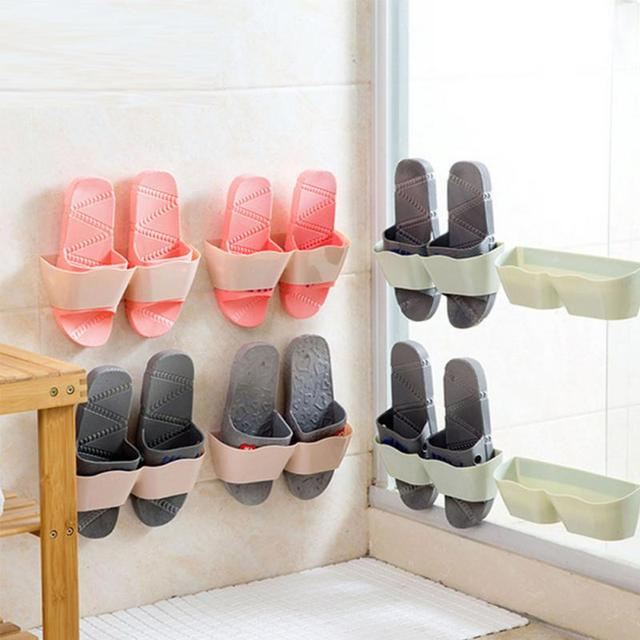 living room bathroom wall mounted storage shelf shoe rack vertical storage rack - Vertical Shoe Rack